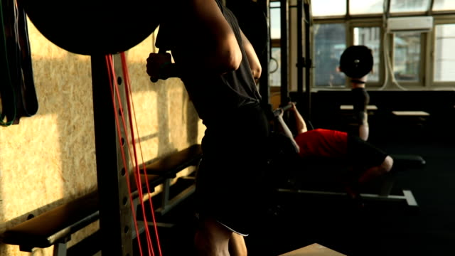 gruppe von menschen sind training in einem fitnessstudio - menschlicher muskel stock-videos und b-roll-filmmaterial