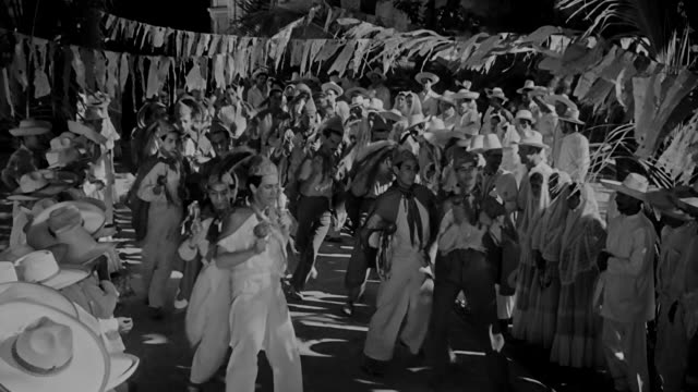 group of people dance during festival in a small town in mexico in the 1930s. - mexican ethnicity stock videos & royalty-free footage