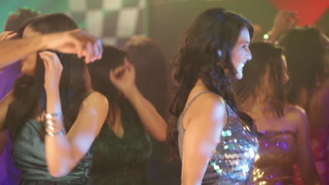 group of people dancing in a nightclub - wavy hair stock videos & royalty-free footage