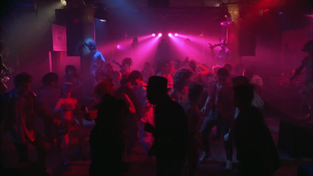 ws group of people dancing in nightclub - 1985 stock videos & royalty-free footage