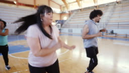 Group of people Dancing on Zumba Class