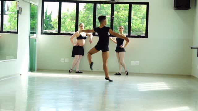 group of people doing ballet classes - dance studio stock videos and b-roll footage
