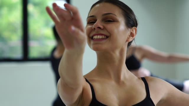group of people doing ballet classes - ballet studio stock videos and b-roll footage