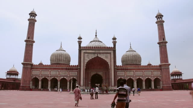 group of people in jama masjid, delhi, india - eid mubarak stock videos & royalty-free footage