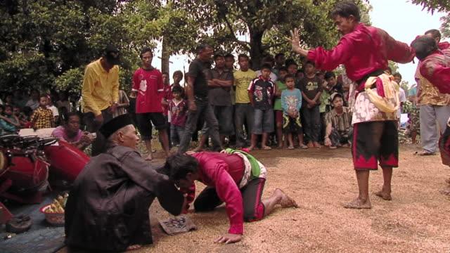 ms zi group of people in trance dance  / surabaya, east java, indonesia  - surabaya stock videos & royalty-free footage