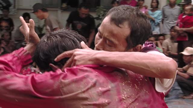 ms pan group of people in trance dance  / surabaya, east java, indonesia  - surabaya stock videos & royalty-free footage