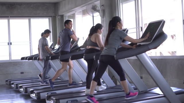 group of people running - health club stock videos & royalty-free footage