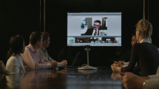 MS DS, Group of people taking part in video conference, Sydney, Australia