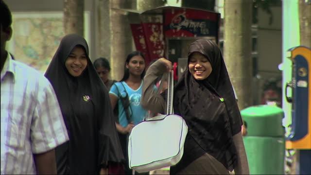 MS PAN Group of people walking on street / Malaysia