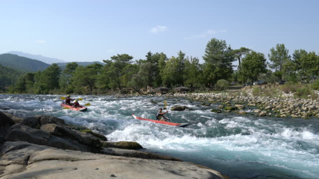 group of people white water rafting - rafting stock videos and b-roll footage