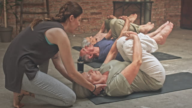Group of Seniors in a Yoga Class