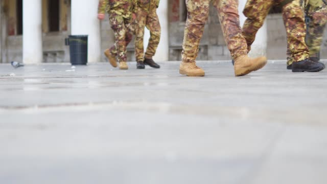 group of soldiers walking in line. - us marine corps stock videos & royalty-free footage