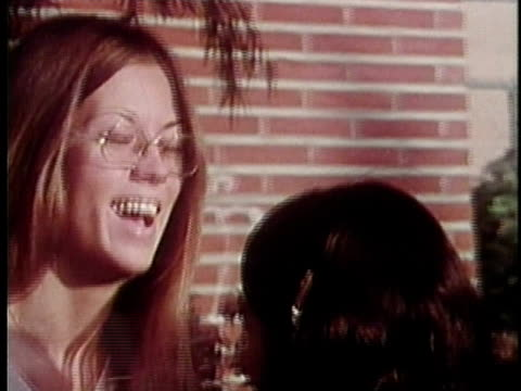 1973 montage group of teenagers in front of college, los angeles, california, usa / audio - 1973 stock videos & royalty-free footage