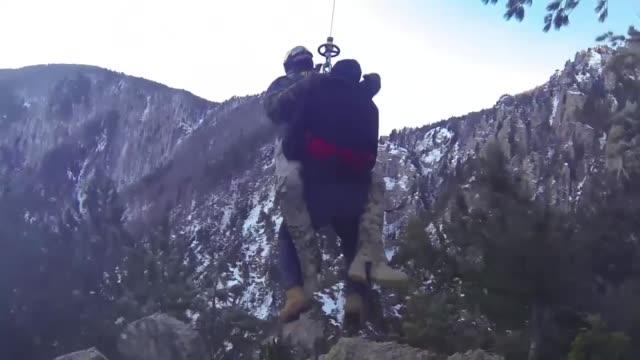 a group of three hikers stranded in northwestern turkey's famed uludag ski center were rescued on january 08 2018 in bursa huseyin karal cengiz konuk... - uludag stock videos and b-roll footage