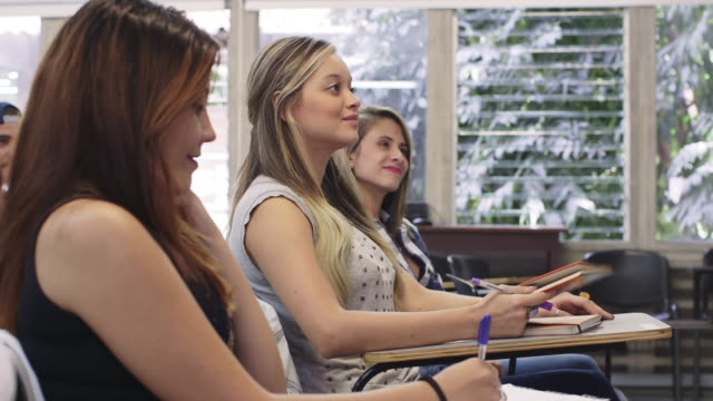 DS, MS A group of university students at a class / Medellin, Colombia
