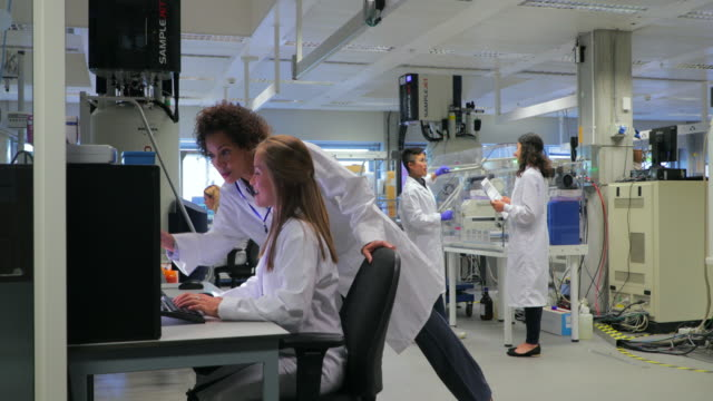 group of women biologists - lab coat stock videos & royalty-free footage