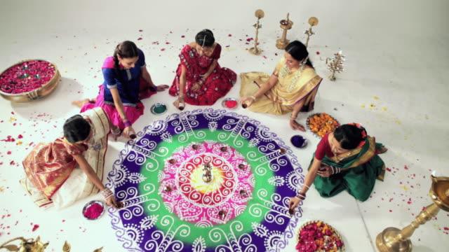 Group of women celebrating diwali festival