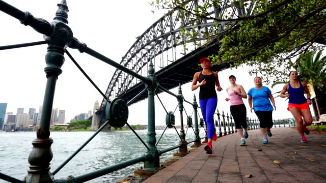 Group of Women Running for Exercise by Sydney Harbour