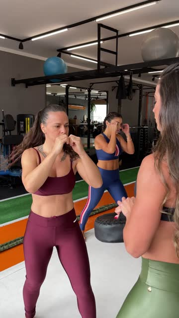 group of women training boxing during functional class at the gym - mobile filming - boxing women's stock videos & royalty-free footage