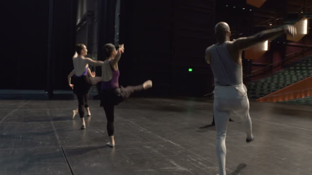 group of young dancers rehearsing on stage. - arts culture and entertainment stock videos & royalty-free footage