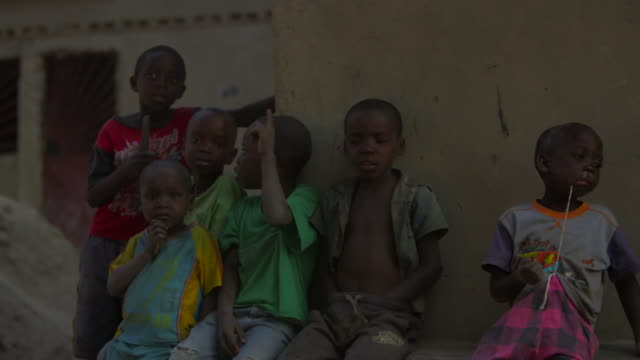 Group of young kids in Angola