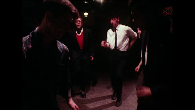 group of young men dancing and bopping in bar; 1980 - tie stock videos & royalty-free footage
