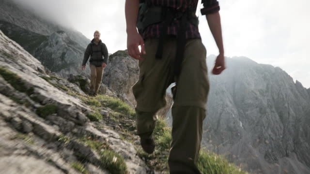 group of young people hiking in the alps - tyrol state austria stock videos and b-roll footage