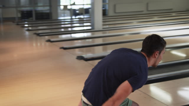 group playing bowling - bowling alley stock videos & royalty-free footage