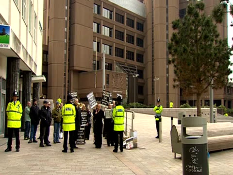 group protests outside liverpool crown court against grooming gangs - gang stock videos & royalty-free footage