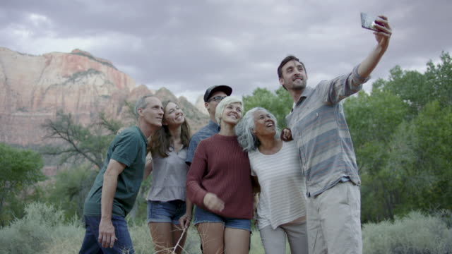 4k uhd: group selfie - human age stock videos & royalty-free footage