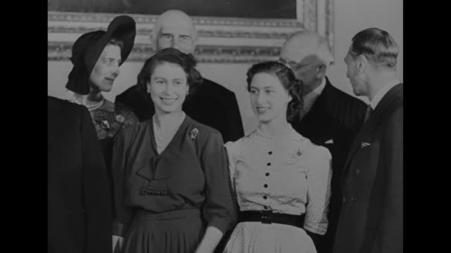 group shot british royal family members with commonwealth prime ministers prior to luncheon at buckingham palace front row l to r south african prime... - british empire stock videos & royalty-free footage
