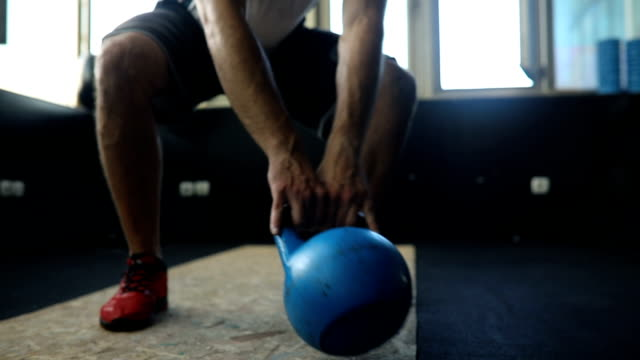 group training in gym - kettlebell stock videos & royalty-free footage