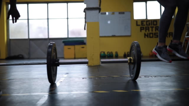 group training of burpee over bar - push ups stock videos & royalty-free footage