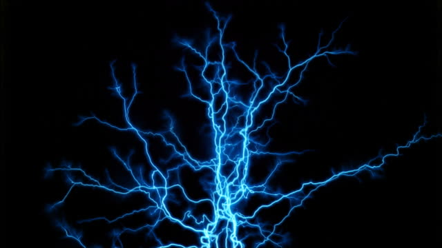grouped branches tinted aqua - tesla coil stock videos and b-roll footage
