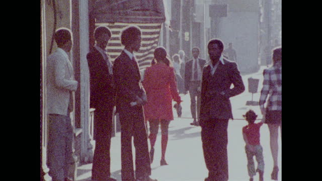 groups of teen boys and young men socialising in brixton; 1973 - multiple image stock videos & royalty-free footage