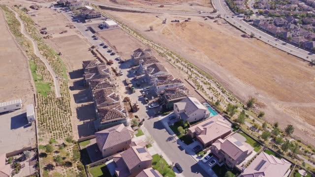 growing american suburb - aerial view - santa clarita stock videos and b-roll footage