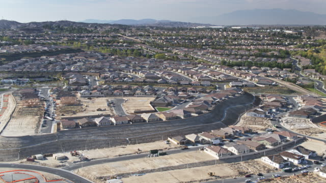 growing american suburb - drone shot - riverside california stock videos and b-roll footage