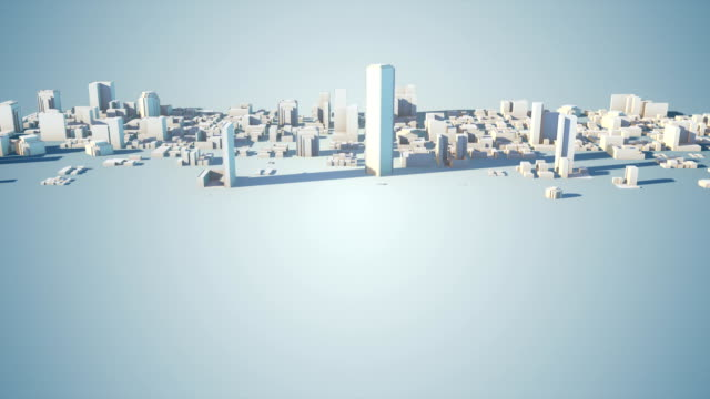 growing city background - three dimensional stock videos & royalty-free footage
