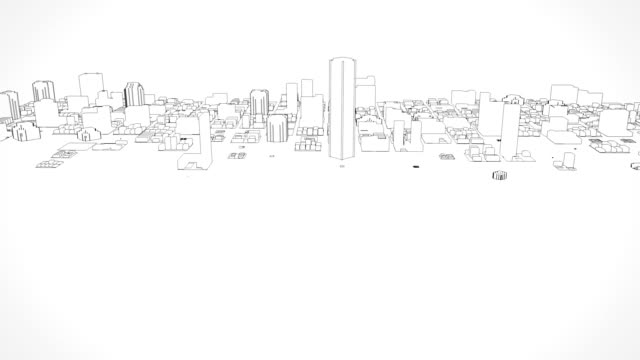 growing city sketch - architecture stock videos & royalty-free footage