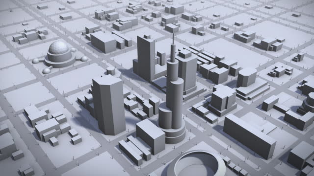 growing city - three dimensional stock videos & royalty-free footage