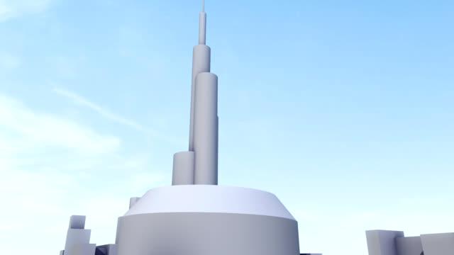 vídeos y material grabado en eventos de stock de crecimiento de la ciudad - torre estructura de edificio