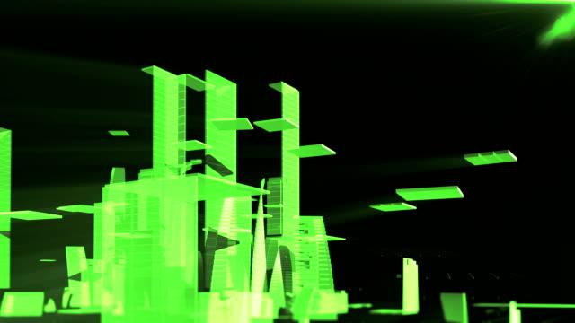 vídeos de stock e filmes b-roll de growing city - plano descrição física