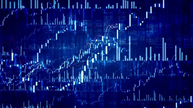 Wachsende finanzielle Diagramme Loop.  Bewegungen an.