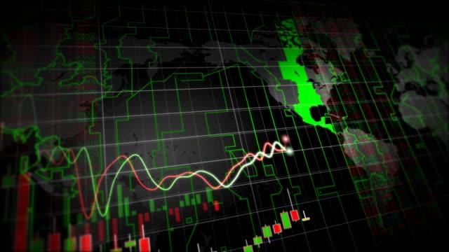 vídeos de stock, filmes e b-roll de crescimento gráficos financeiros, circuito - gráfico