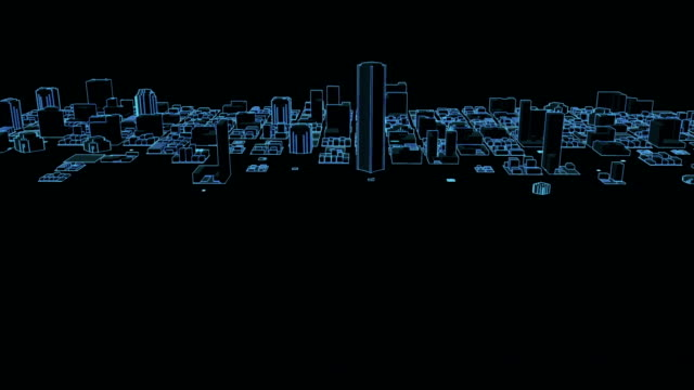 growing neon city - blueprint stock videos & royalty-free footage