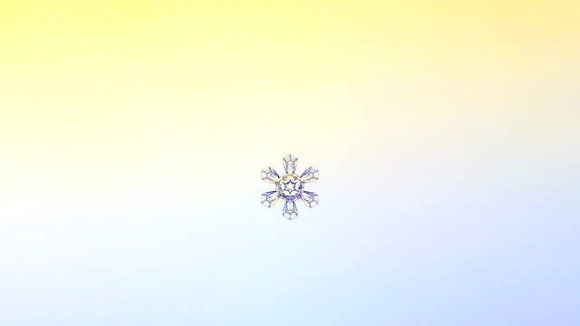 'Growing snowflake, timelapse'
