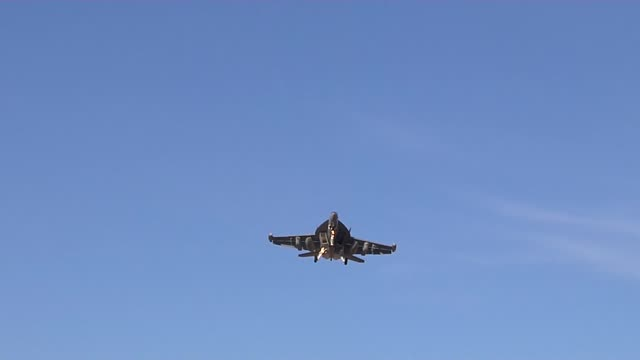 growler's during red flag operations at nellis airforce base nevada - captain scarlet stock videos and b-roll footage