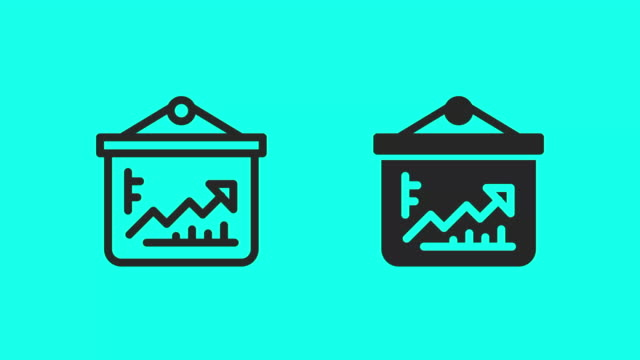 growth chart board icons - vector animate - global communications vector stock videos & royalty-free footage