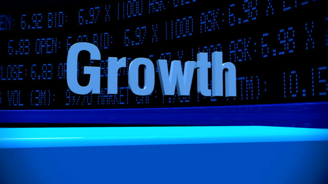 hd: growth in stock market tickers - bar chart stock videos & royalty-free footage