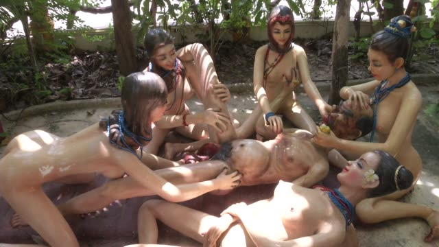 gruesome statues of scenes from hell at wat mae kaet noi or the hell temple in mae rim chiang mai thailand it was created by pra kru vishanjalikon or... - part of stock videos & royalty-free footage